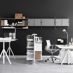 String Furniture String cabinet, 78 x 20 cm, grey