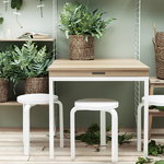 String Furniture String folding table, black stained ash