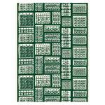 Marimekko Pariisin Portit fabric, dark green - off white