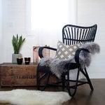 Parolan Rottinki Lumikenkätuoli, vintage, valkoinen