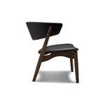 Sibast No 7 Lounge chair, fully upholstered, dark oiled oak - black lea