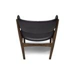 Sibast No 7 lounge tuoli, kokoverhoiltu, tummaksi öljytty tammi - musta