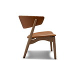 Sibast No 7 Lounge chair, fully upholstered, white oiled oak - cognac l