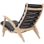 Klassik Studio PV Lounge Chair, oak - black leather