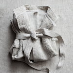Lapuan Kankurit Terva bathrobe, white-linen