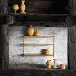 String Furniture String Pocket hylly, sinapinkeltainen