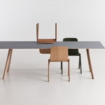 Hay CPH30 table, lacquered oak - grey