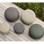 Cane-line Circle footstool, large, round, taupe