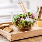 Sagaform Oak glass bowl