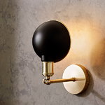 Menu Walker ceiling/wall lamp, black - brass