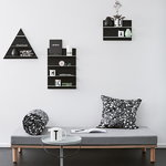Design Letters Black Paper A3 wall shelf