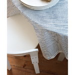 Artek Rivi acrylic coated cotton fabric, 145 x 300 cm, white-blue