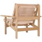 Klassik Studio Hunting Chair nojatuoli, tammi - luonnonvärinen nahka