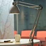 Luxo L-1 LED desk lamp, aluminium grey
