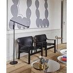 HAY Bernard lounge chair, black oak - black leather