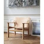 HAY Bernard lounge chair, oak - natural leather