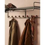 Maze Bill hat rack, L, black - walnut stained ash