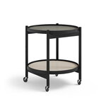 Brdr. Krüger Bølling tray table 50 cm, black lacquered beech - stone