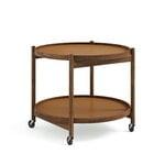 Brdr. Krüger Bølling tray table 60 cm, oiled walnut - clay