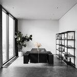 Nichba Bookcase, large, black