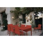 Fermob Calvi pöytä 195 x 95 cm, red ochre