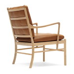 Carl Hansen & Søn OW149 Colonial lounge chair, oiled oak - cognac leather Sif 95