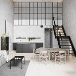 Nichba Coffee table, 115 x 55 cm, black