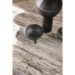 Gubi Epic sohvapöytä, pyöreä, 80 cm, harmaa travertiini