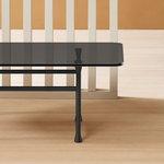 Basta Forte table, rectangular, grey glass - black