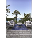 Woodnotes Line rug, light sand - navy blue