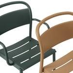 Muuto Linear Steel käsinojallinen tuoli, tummanvihreä