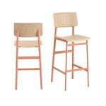 Muuto Loft bar stool 75 cm, dusty rose - oak