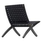 Carl Hansen & Søn MG501 Cuba lounge chair, black oak - black webbing