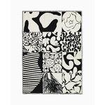 Marimekko Ruudut blanket 130 x 180 cm, white - black