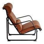 Yrjö Kukkapuro Remmi lounge chair, black - cognac leather