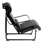 Yrjö Kukkapuro Remmi lounge chair, black - black leather