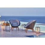 Cane-line Peacock lounge chair cushion set, light grey