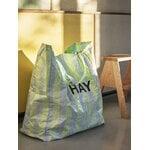 HAY Recycled Candy Stripe ostoskassi, M, sininen - vihreä