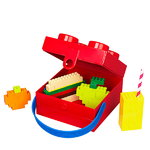 Room Copenhagen Lego lunch box with handle, red