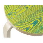 Artek Aalto stool 60 ColoRing, green - yellow