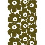 Marimekko Unikko paksu puuvillakangas, ylijäämäväri - valkoinen