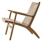 Carl Hansen & Søn CH25 lounge chair, oiled oak - natural cord