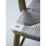 Carl Hansen & Søn CH22 lounge chair, oiled oak - natural cord