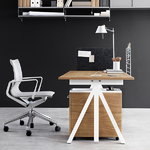 String Furniture String Works height adjustable work desk, 180 cm, ash