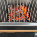 Röshults Booster BBQ grill 50, brushed stainless steel