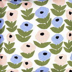 Kauniste Flora cushion cover, blue