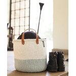 Mifuko Kiondo market basket duo, M, white - light blue