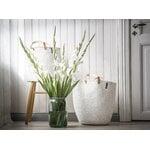 Mifuko Kiondo basket with handles L, white