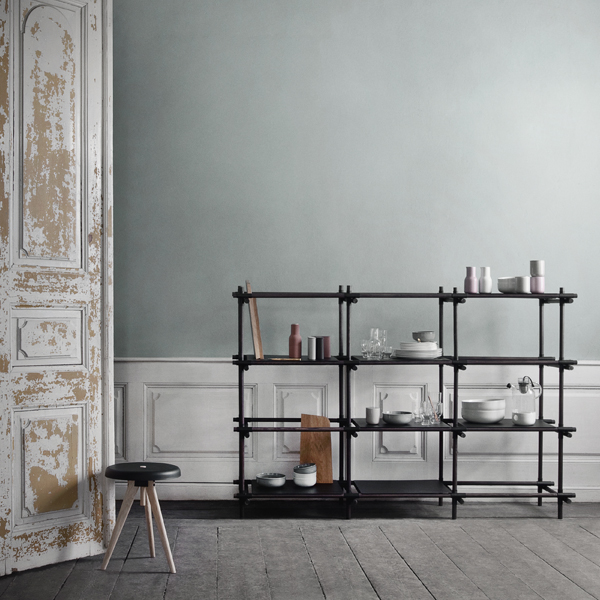 menu stick system 1 x 2 hylly musta finnish design shop. Black Bedroom Furniture Sets. Home Design Ideas
