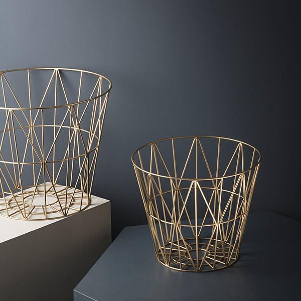 Ferm Living Wire Basket Brass Large Finnish Design Shop